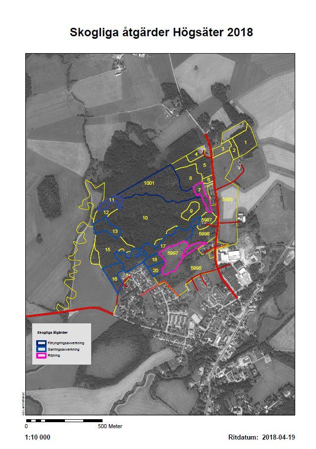 Planerade Skogliga Atgarder I Hogsater 2018 Fargelanda Kommun